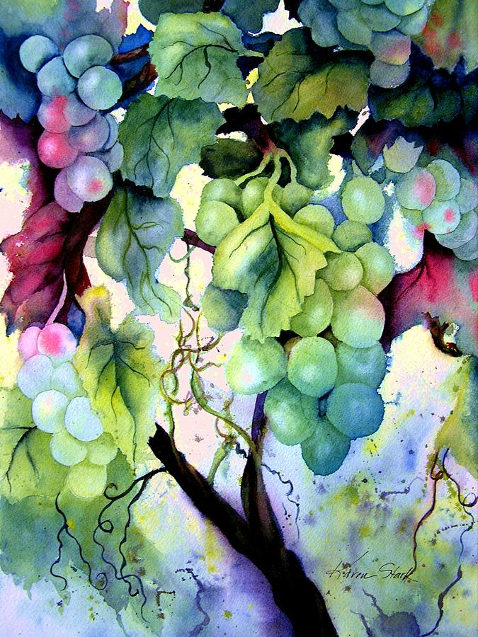 Grapes Painting - Grapes II by Karen Stark