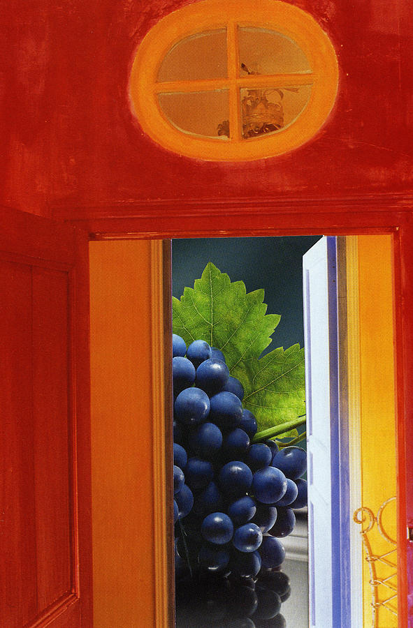 Red Photograph - Grapes In A Red Room by Francine Gourguechon