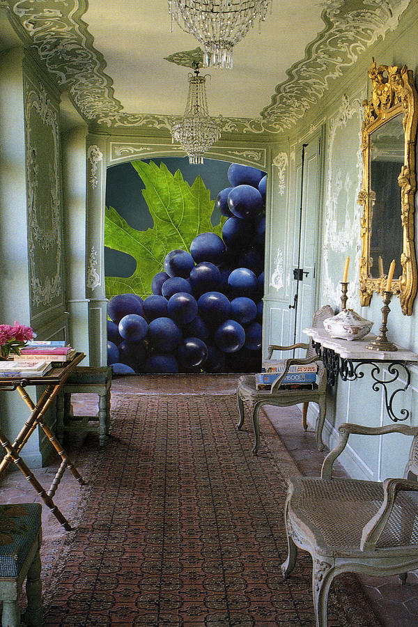 Grapes Photograph - Grapes In Ornate Room by Francine Gourguechon