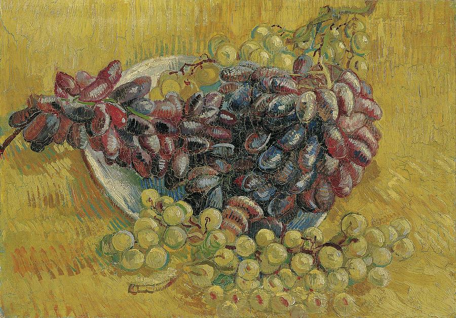 Vincent Van Gogh Painting - Grapes by Vincent van Gogh