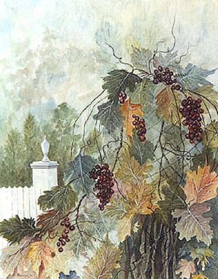 Fruit Painting - Grapevine Topiary by Ben Kiger