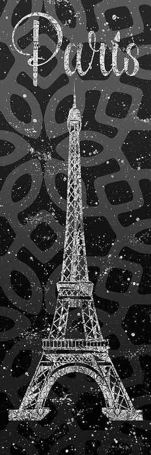Paris Digital Art - Graphic Art Paris Eiffel Tower - Silver And Grey by Melanie Viola