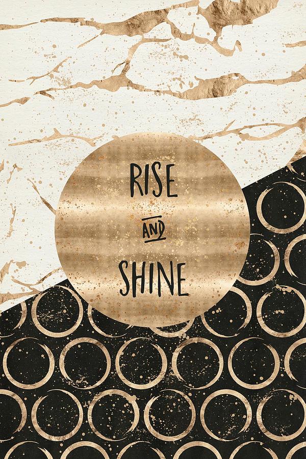 GRAPHIC ART Rise and shine by Melanie Viola