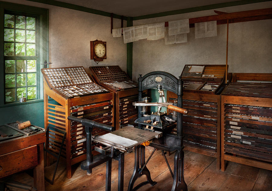 Hdr Photograph - Graphic Artist - The Print Office - 1750  by Mike Savad
