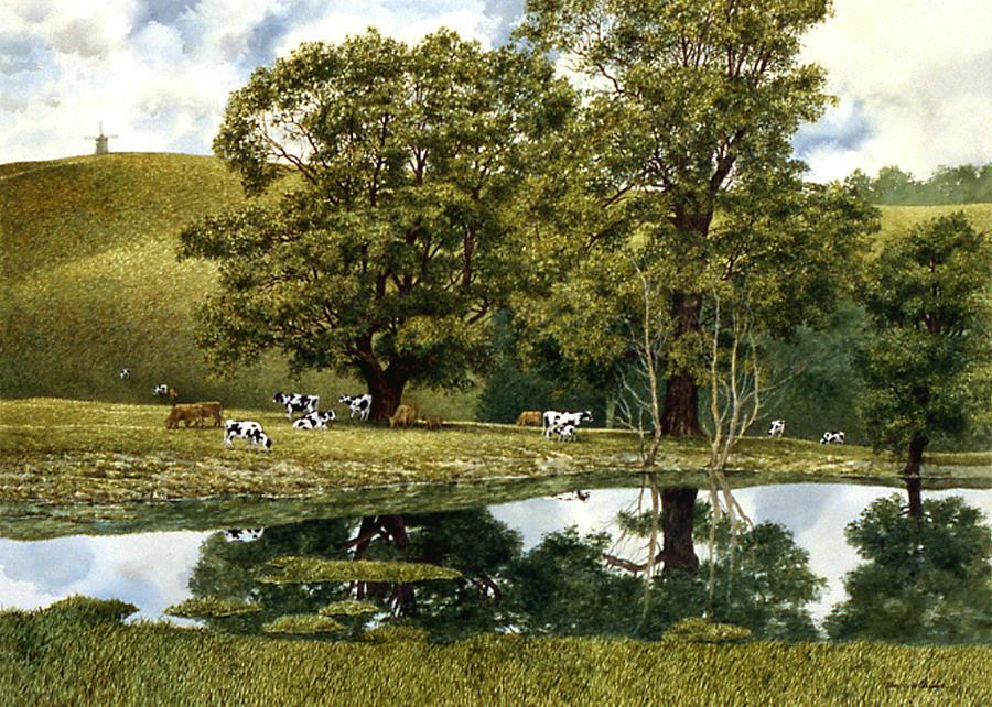 Landscape Painting - Grasons Mill by Tom Wooldridge