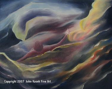 Grasping The Idea Painting by John Kosek