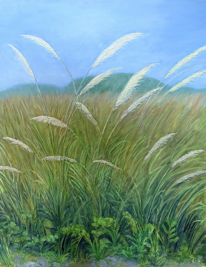 Grass Painting - Grasses by David Diethelm