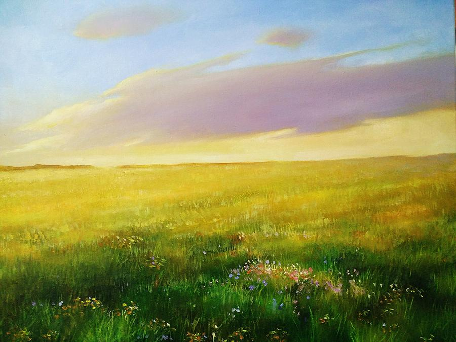 Grassland Painting - Grassland by Li Huaipeng
