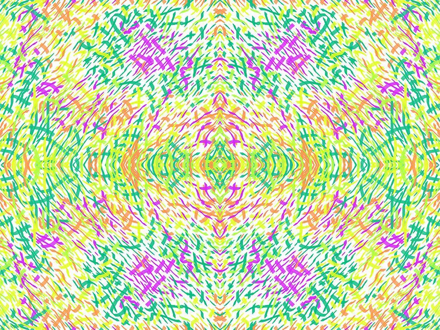 Rough Digital Art - Grassworld2 Meadow by Julia Woodman