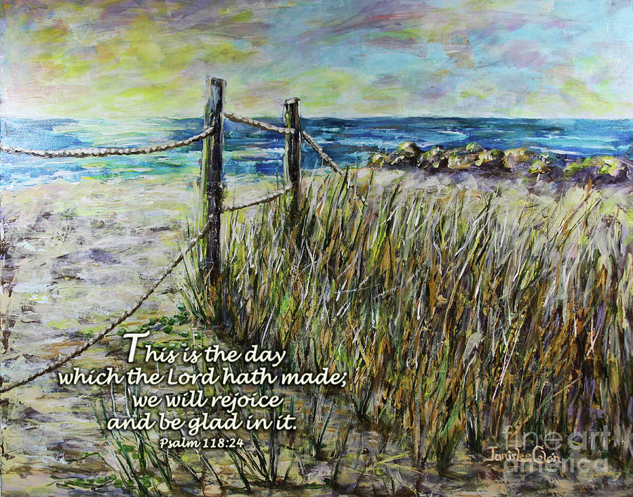 Beach Digital Art - Grassy Beach Post Morning Psalm 118 by Janis Lee Colon