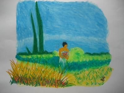 Grass Mixed Media - Grassy Field by Virginia Patrick
