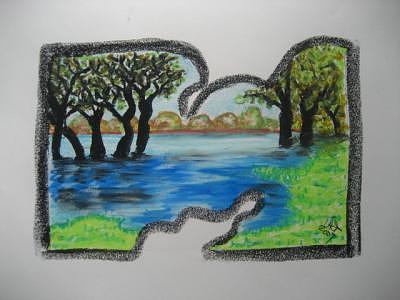Grass Mixed Media - Grassy Trees by Virginia Patrick