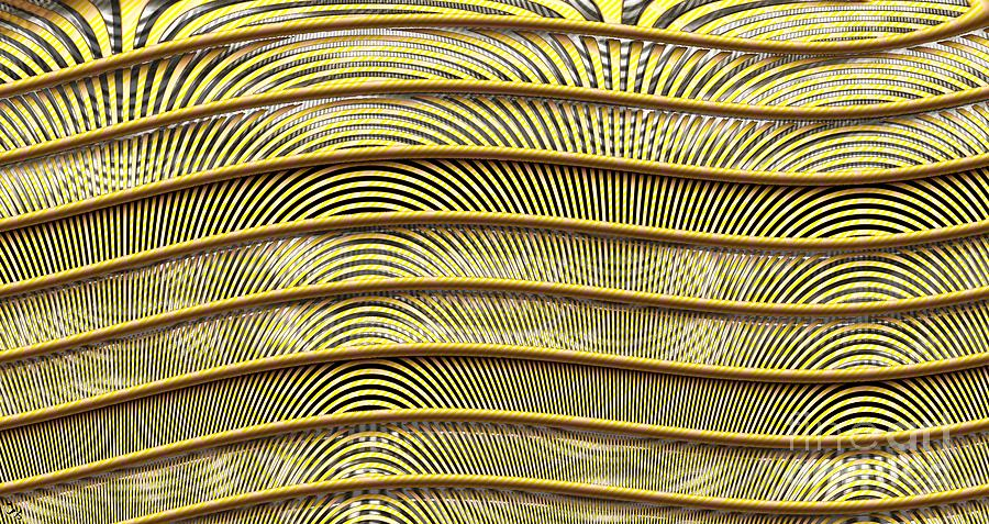 Grate Digital Art - Grate Of Yellow by Ron Bissett
