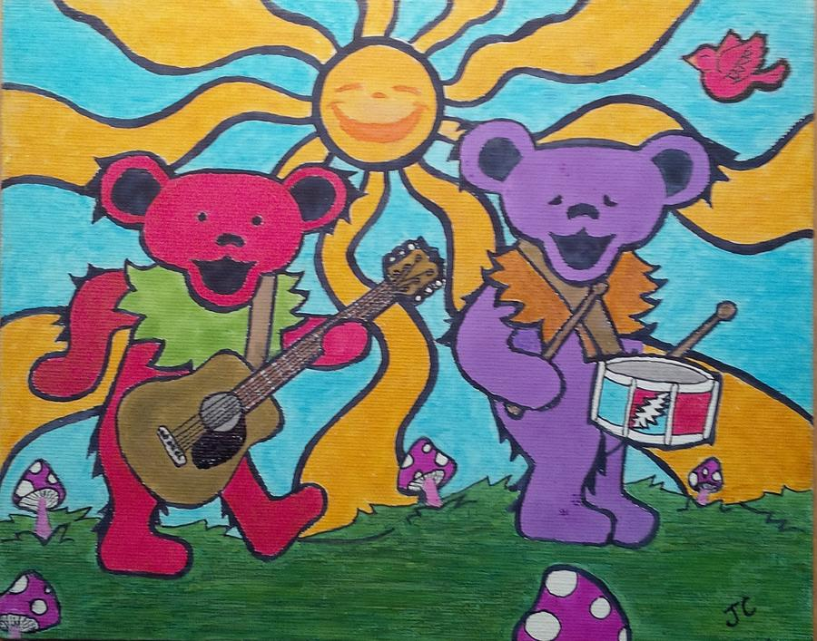 Grateful Dead Bears Painting by John Cunnane