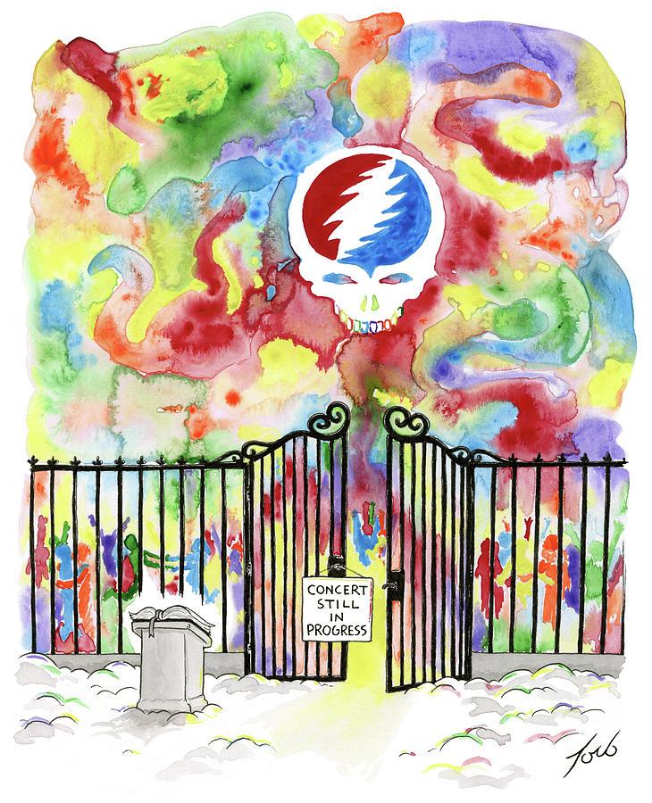 Grateful Dead Concert In Heaven Drawing by Tom Toro