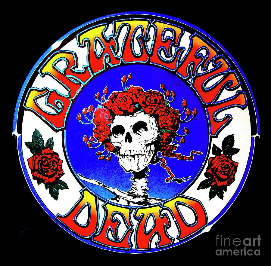 Grateful Dead Logo Painting By Pg Reproductions
