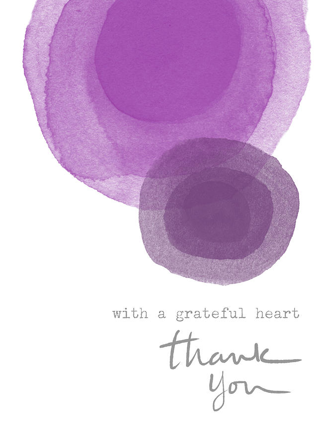 Gratitude Mixed Media - Grateful Heart Thank You- Art By Linda Woods by Linda Woods