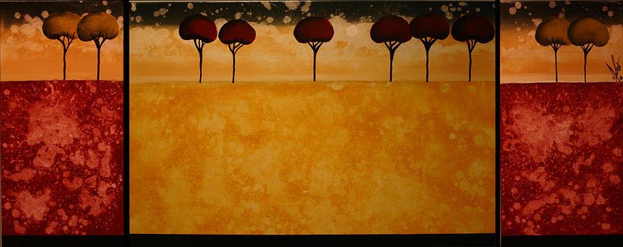 Floral Painting - Gratification by Moran Danan