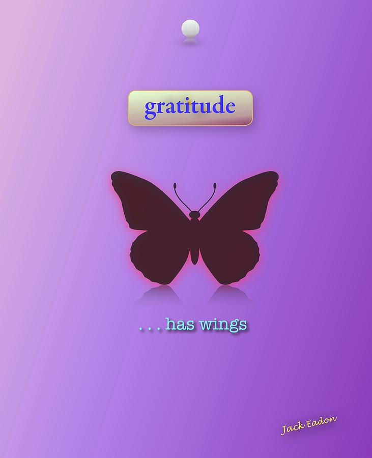 Meditation Photograph - Gratitude has Wings by Jack Eadon