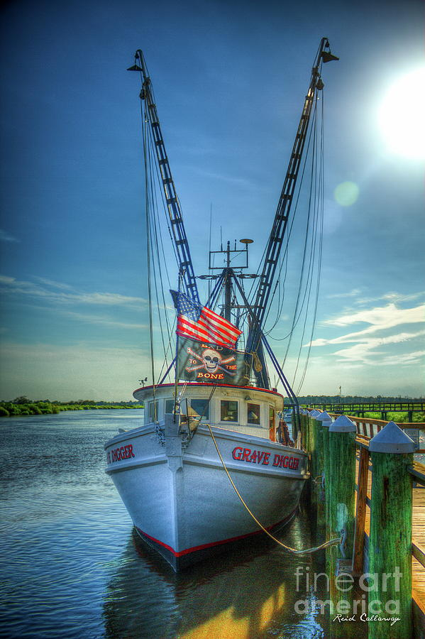 Grave Digger Bad To The Bone Shrimp Boat Art Photograph By
