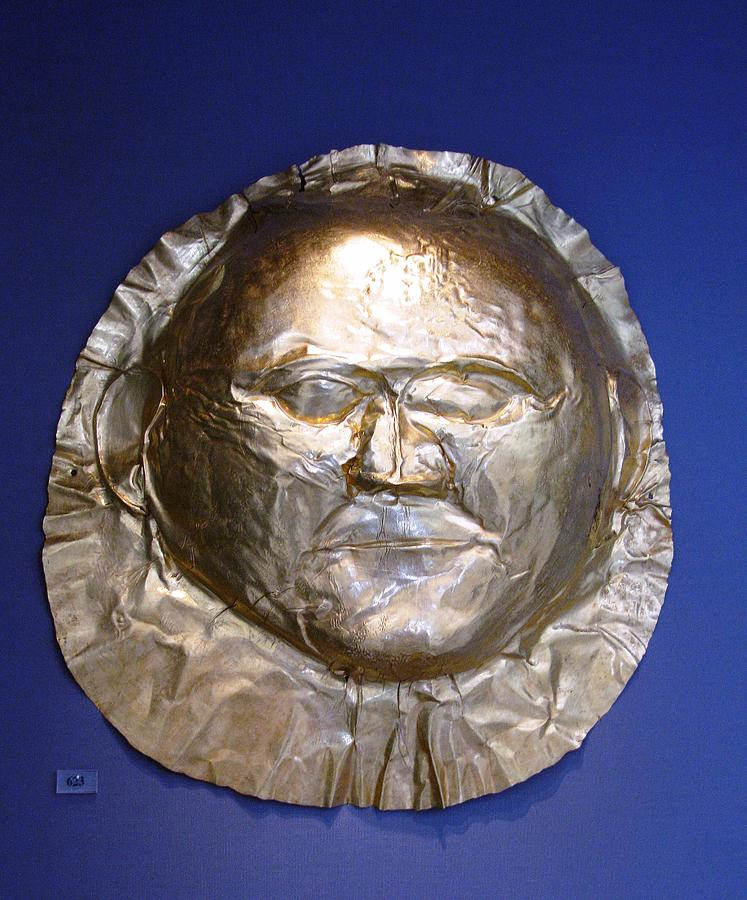 National Museum Athens Photograph - Grave Mask by Andonis Katanos