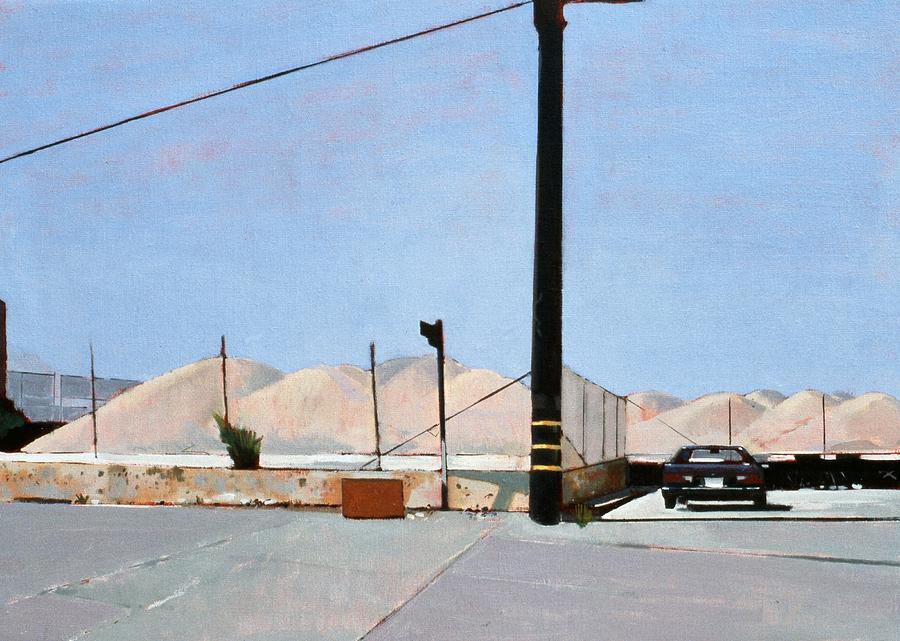 Gravel Piles Downtown La Painting - Gravel Piles Downtown La by Peter Wilson