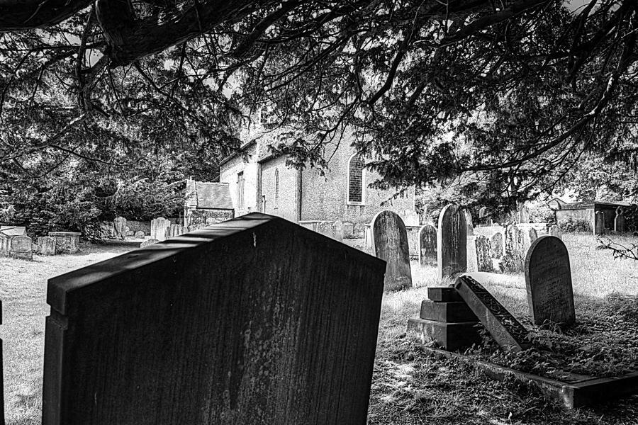 Black And White Photograph - Graveyard by Derek Walker