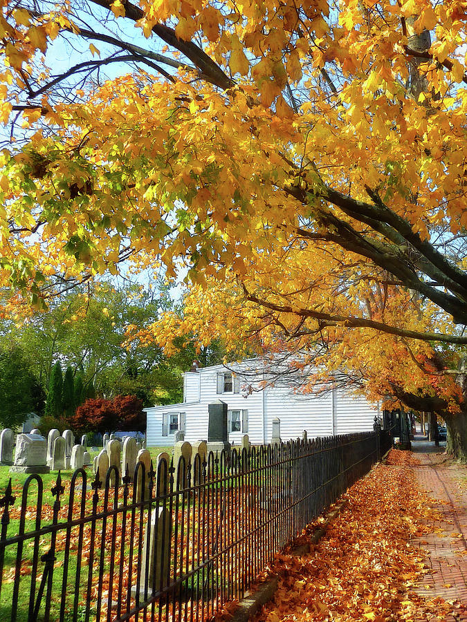 Autumn Photograph - Graveyard In Autumn by Susan Savad