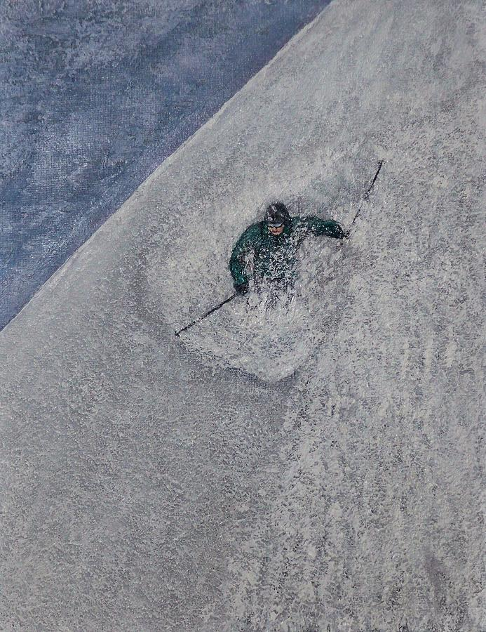 Ski Painting - Gravity by Michael Cuozzo