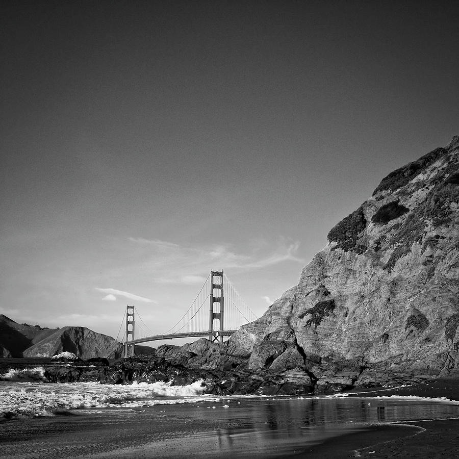 Travel Photograph - Gray Golden Gate by Nathan Spotts