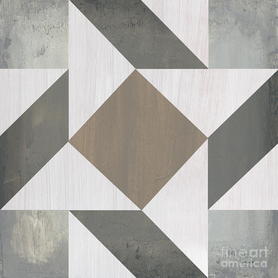 Quilt Painting - Gray Quilt by Debbie DeWitt