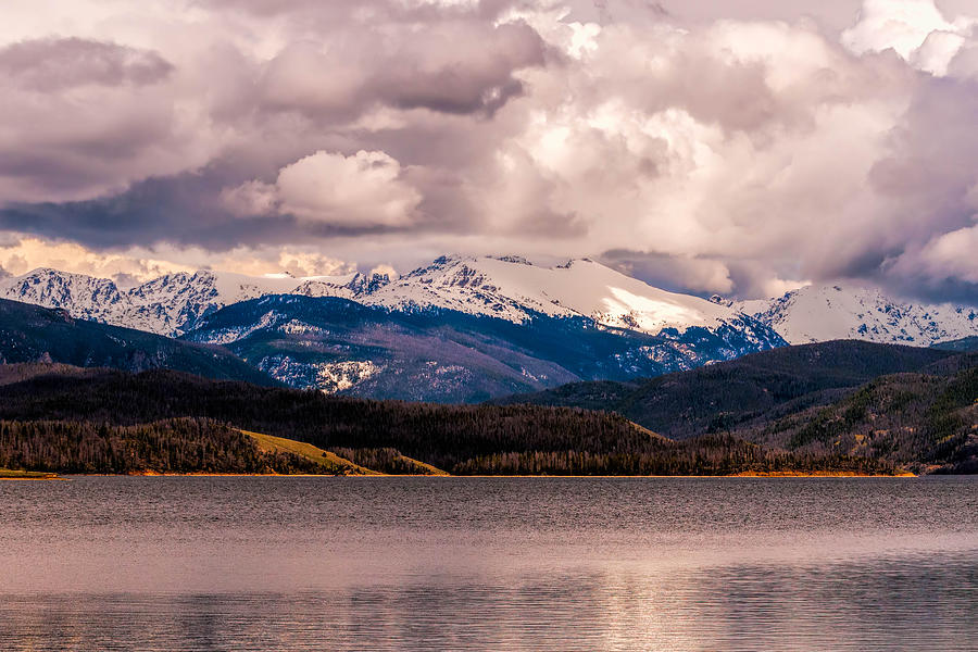 Dramatic Photograph - Gray Skies Over Lake Granby by Tom Potter