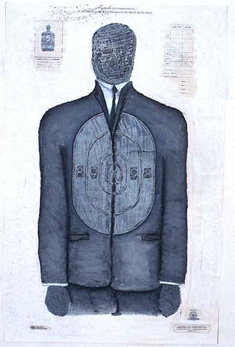Men Painting - Gray Suit by Billy Knows