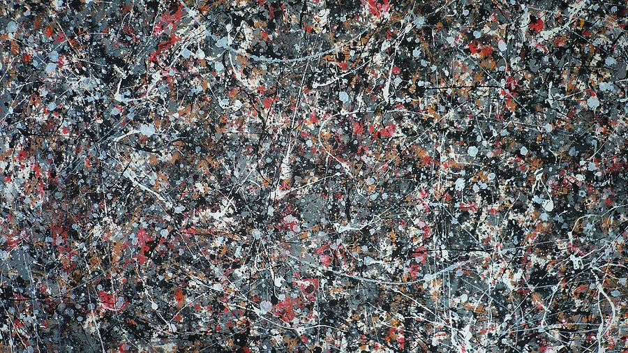 Abstract Painting - Gray Thing by Ericka Herazo