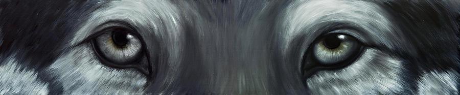 Eyes Painting - Gray Wolf Eyes by Darlene Green