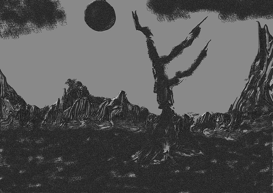 Gray World Digital Art by Marcelo Macedo Flores Macedo