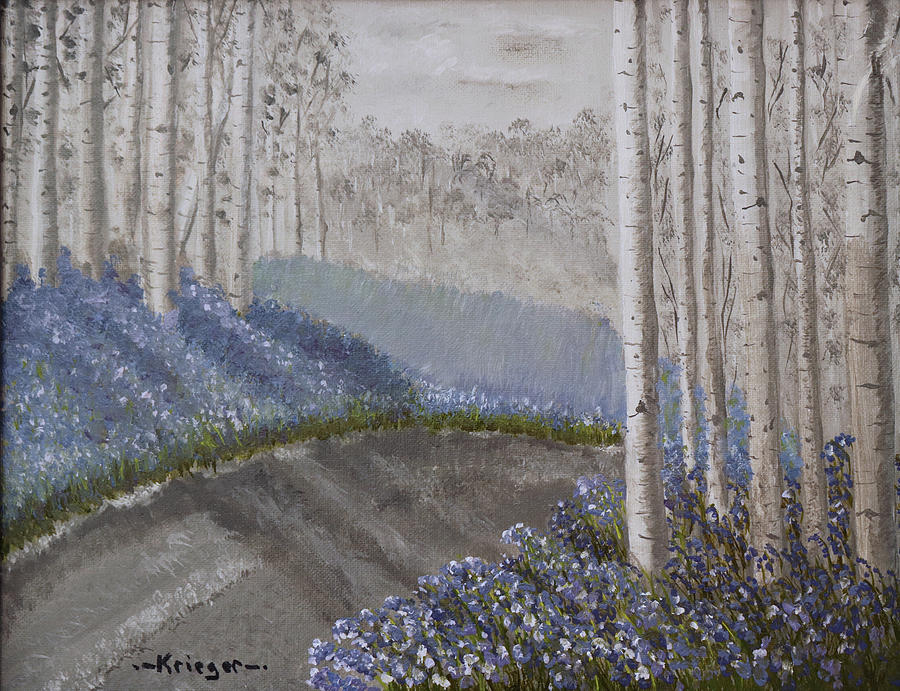 Grayscale Bluebells by Stephen Krieger