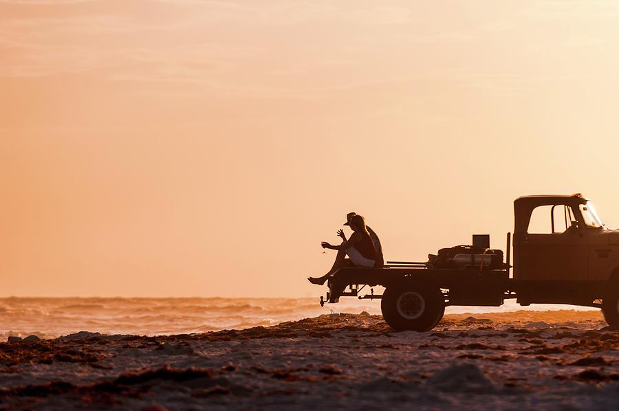 Grayton Beach Flatbed Sunset by Kurt Lischka