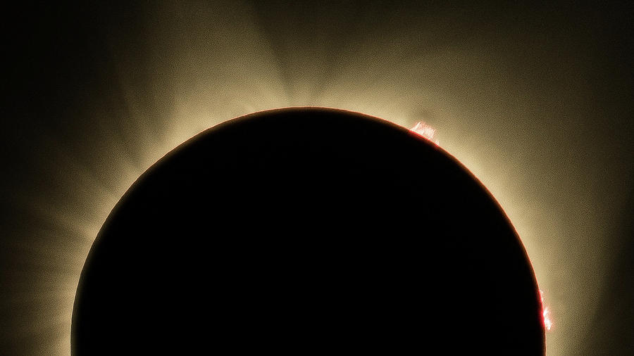 Great American Eclipse Prominence 16x9 Totality Prominence 16x9 as seen in Albany, Oregon. by John King