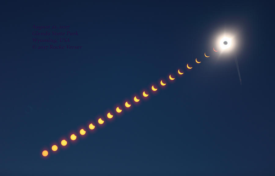 Eclipse Photograph - Great American Eclipse by Rocke Verser