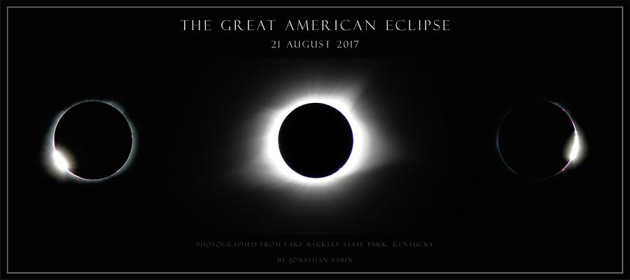 Great American Eclipse - Triptych by Jonathan Sabin