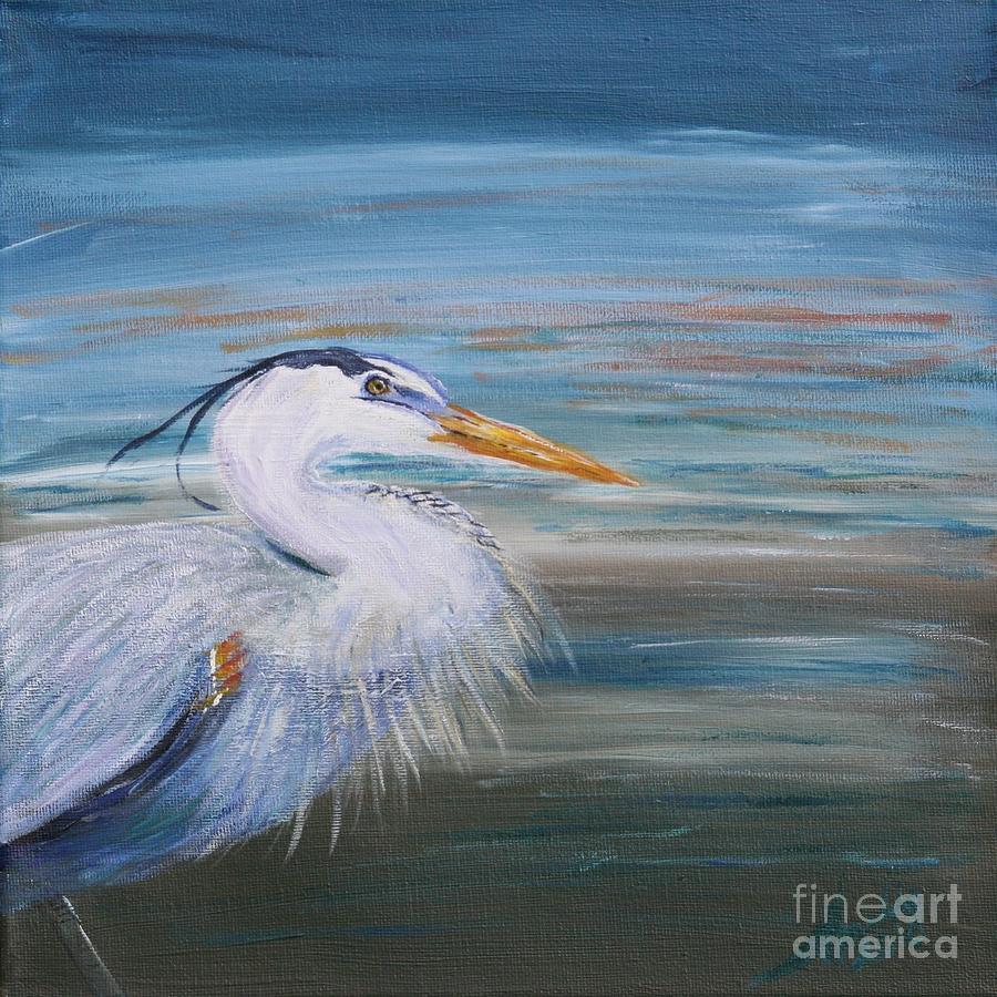 Great Blue Heron Painting - Great Blue Heron by Amelia Hollins