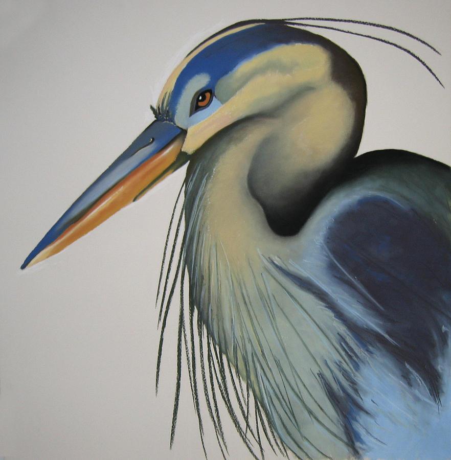 Birds Painting - Great Blue Heron by Brenda Wolf