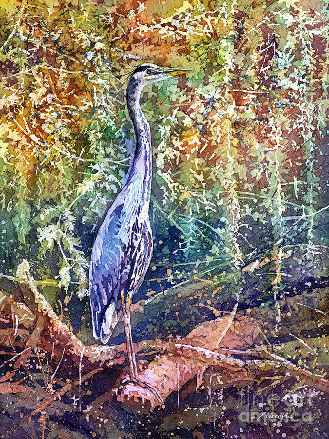 Heron Painting - Great Blue Heron by Hailey E Herrera