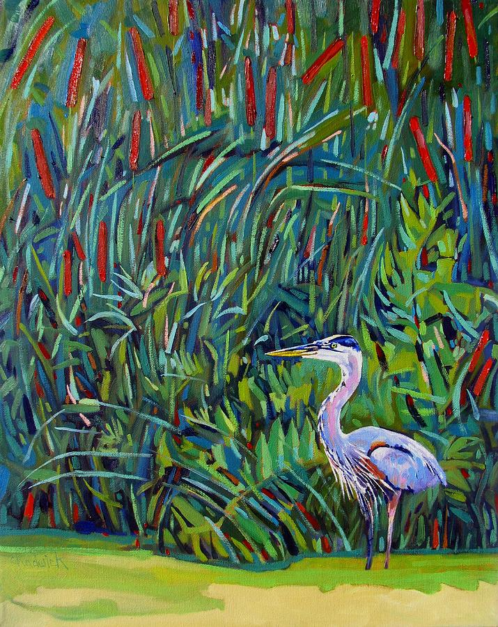 Great Painting - Great Blue by Phil Chadwick