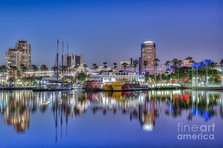Long Beach Photograph - Great Blue Water Reflections by David Zanzinger