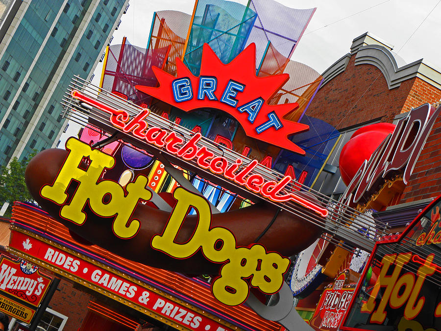 Neon Signs Photograph - Great Charbroiled Hot Dogs by Elizabeth Hoskinson