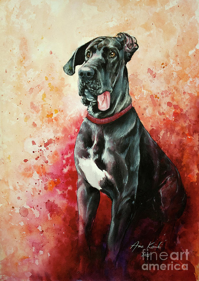 Goofy Painting - Great Dane by Anne Koivumaki - Fine Art Anne