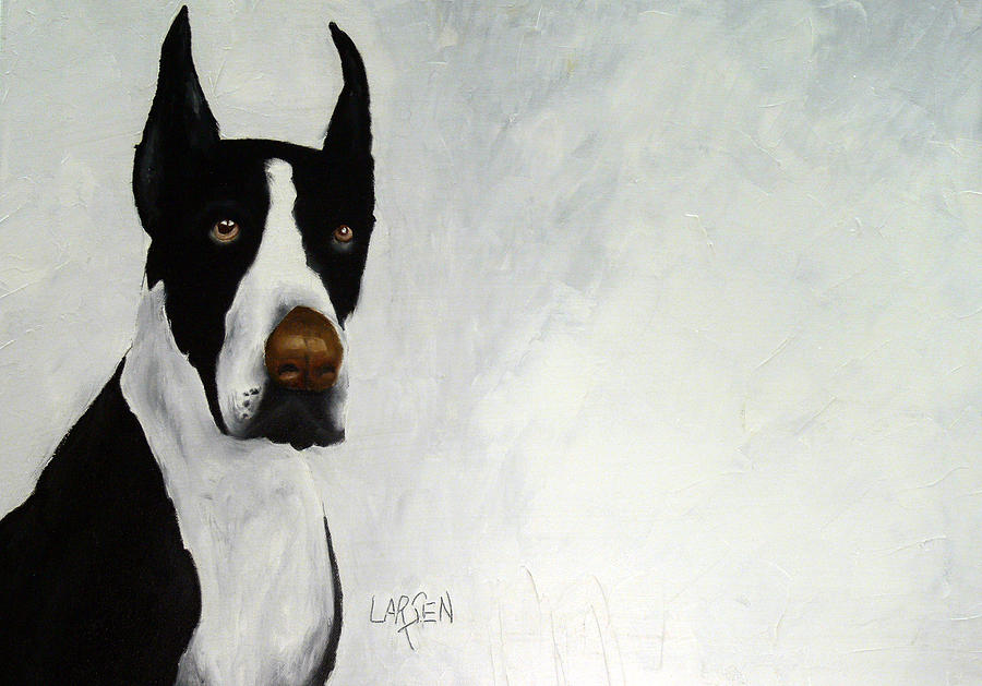 Great Dane Painting by Dick Larsen