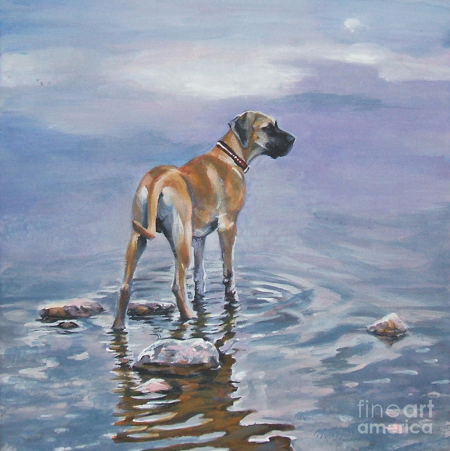 Great Dane Painting - Great Dane by Lee Ann Shepard